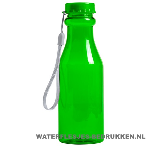 Sport bidon transparant 500 ml bedrukken groen