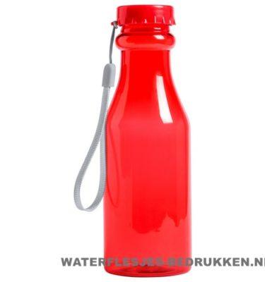 Sport bidon transparant 500 ml bedrukken rood