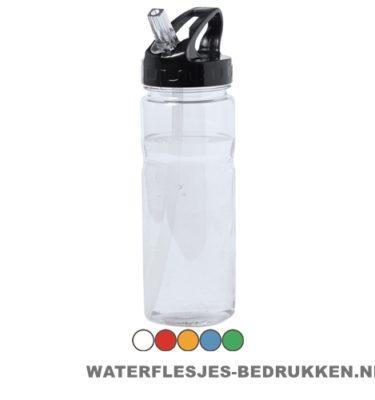 Sport bidon transparant drinktuit 650ml bedrukken goedkoop