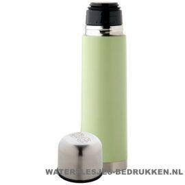 Thermosfles goedkoop klassiek 500ml bedrukt groene goedkoop