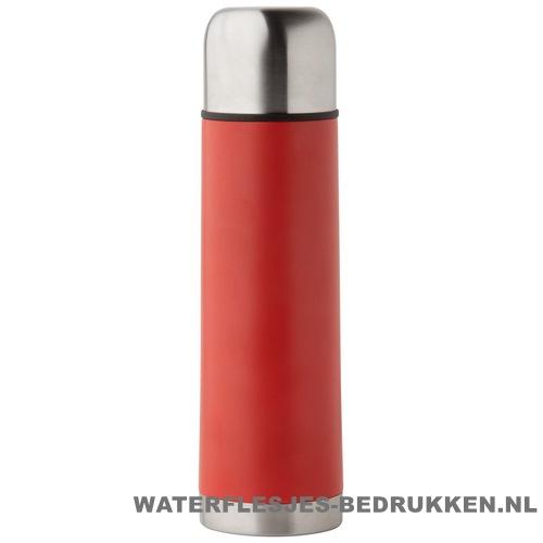 Thermosfles goedkoop klassiek 500ml bedrukt rood
