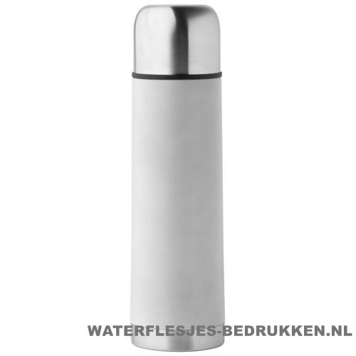 Thermosfles goedkoop klassiek 500ml bedrukt wit