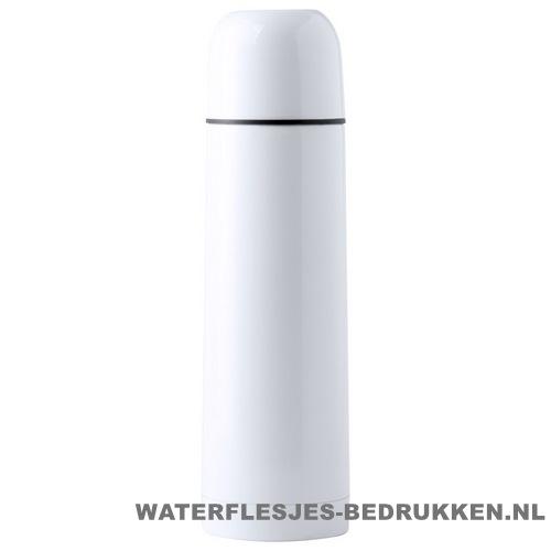 Thermosfles goedkoop klassiek wit 500ml bedrukken wit