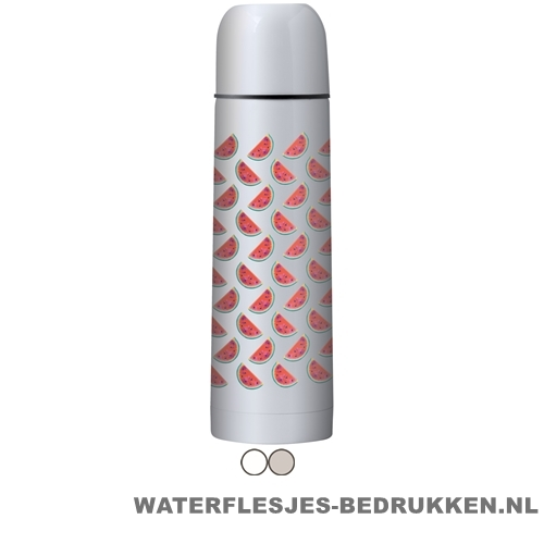 Thermosfles goedkoop klassiek wit 500ml bedrukken