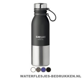 Thermosfles robuust 600ml bedrukken campingfles