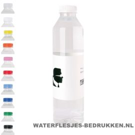 Waterflesje bedrukken 500 ml platte dop goedkoop
