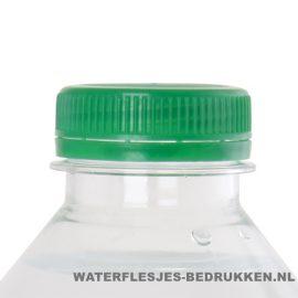 Waterflesje bedrukken 500 ml platte dop groen
